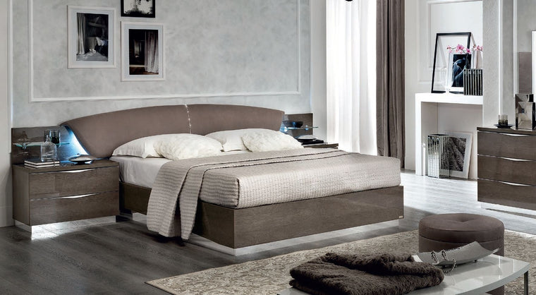 Platinum Night Letto Drop Italian High Gloss Bed Frame