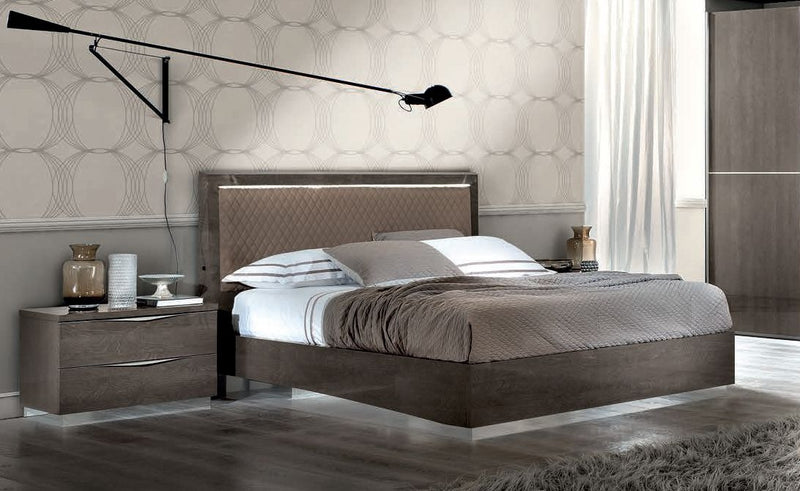 Platinum Night Letto Rombi High Gloss Italian Bed Frame - ImagineX Furniture & Interiors
