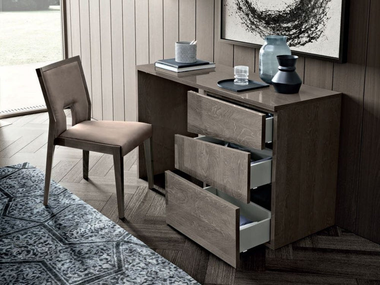 Camel Tekno Night Silver Birch High Gloss 3 Drawer Dressing Table