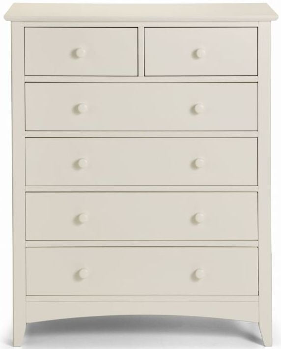 Julian Bowen Cameo Off White 4+2 Drawer Chest - ImagineX Furniture & Interiors