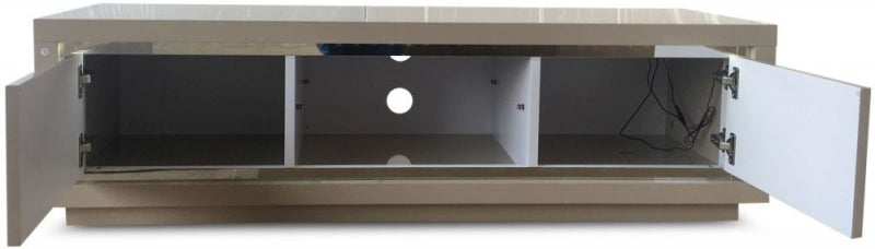 Sardinia Cream High Gloss TV Unit with LED - ImagineX Furniture & Interiors