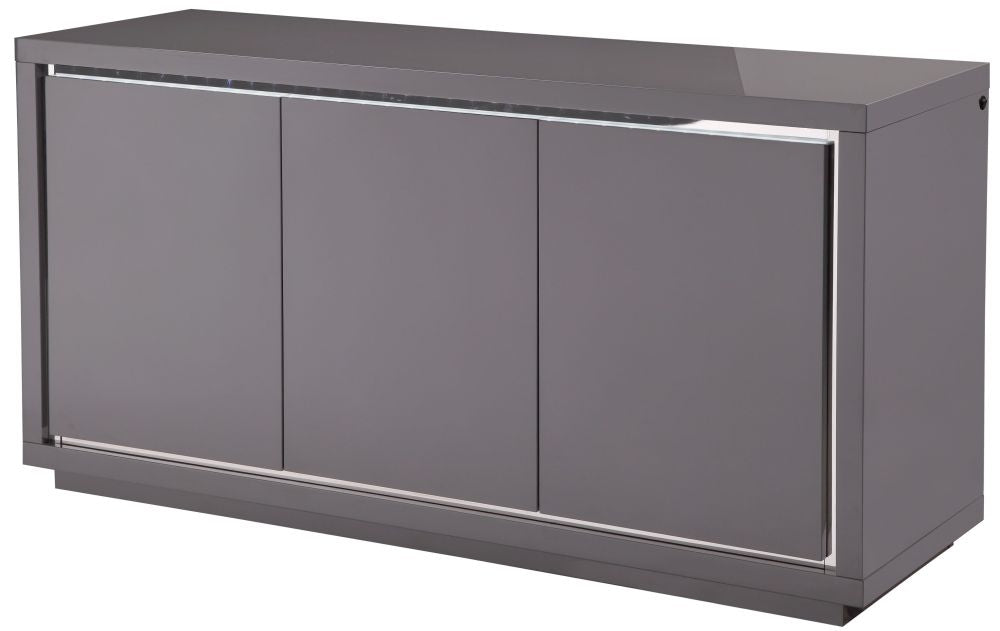 Sardinia Grey High Gloss Sideboard with LED – ImagineX