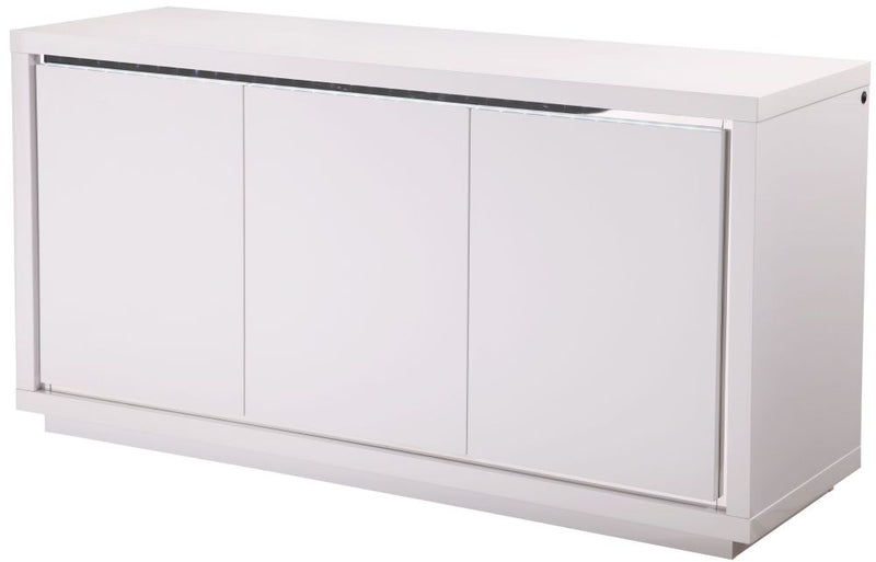Sardinia White High Gloss Sideboard with LED - ImagineX Furniture & Interiors