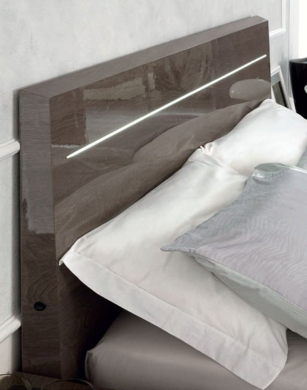 Platinum Night Letto Legno Italian High Gloss Bed Frame