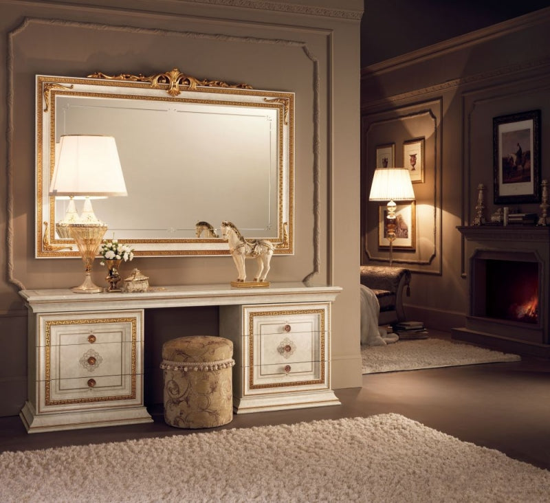 Leonardo Golden Italian Dressing Table - ImagineX Furniture & Interiors