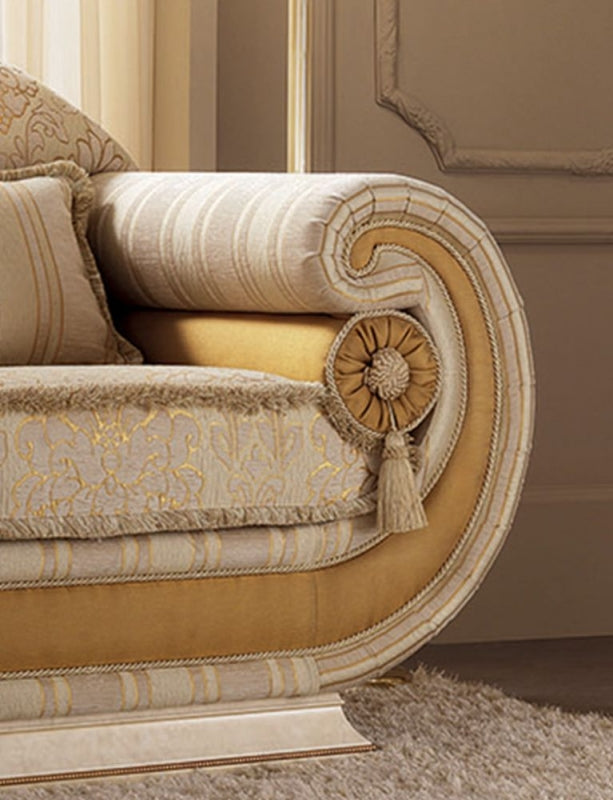Leonardo Italian Fabric Armchair - ImagineX Furniture & Interiors