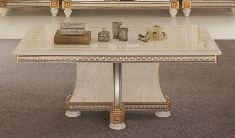 Liberty Ivory with Gold Italian Coffee Table - ImagineX Furniture & Interiors