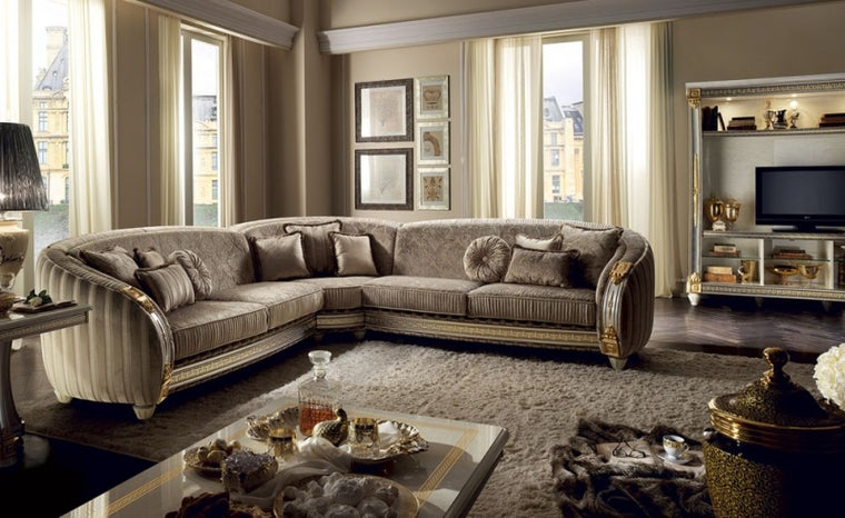 Liberty Italian Corner Fabric Sofa