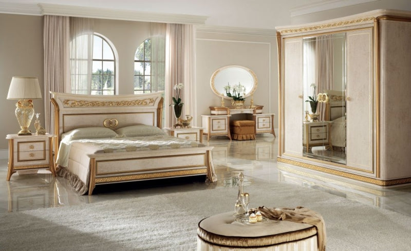 Melodia Golden Italian Bed Frame - ImagineX Furniture & Interiors