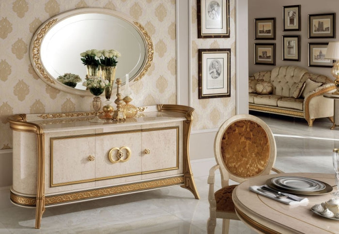 Melodia Golden Italian 3 Door Wide Sideboard - ImagineX Furniture & Interiors