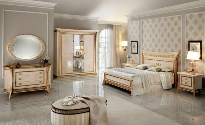 Melodia Golden Italian 3 Door Triple Wardrobe - ImagineX Furniture & Interiors