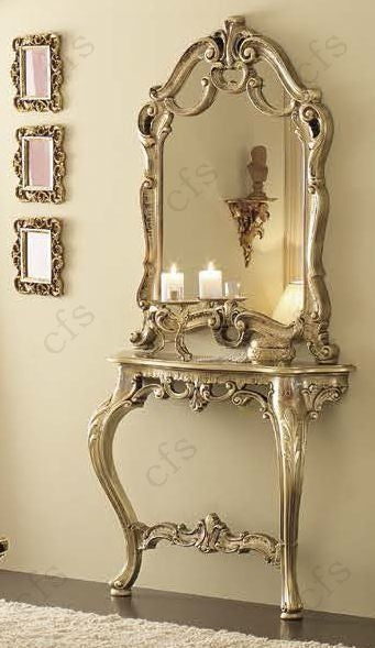Leonardo Italian Barocco Mecca Gold Console Table - ImagineX Furniture & Interiors