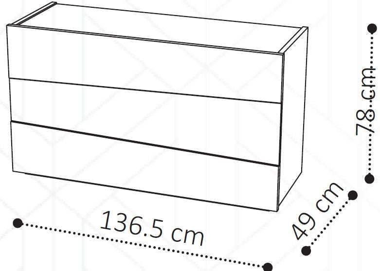 Camel Tekno Night 3 Drawer Silver Birch High Gloss Single Dresser - ImagineX Furniture & Interiors