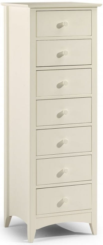 Julian Bowen Cameo Off White 7 Drawer Narrow Chest - ImagineX Furniture & Interiors