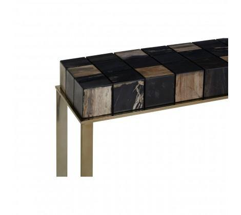Relic Console Table With Brass Finish - Modern Home Interiors