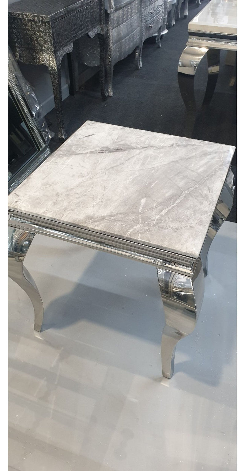 Louis Grey Marble Lamp Table - ImagineX Furniture & Interiors
