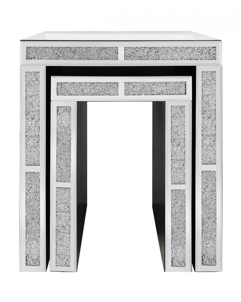 Nest Of 2 Rome Mirror End Tables - ImagineX Furniture & Interiors