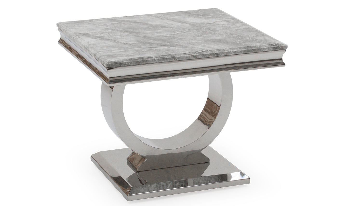 Arianna Grey Marble Lamp Table - ImagineX Furniture & Interiors