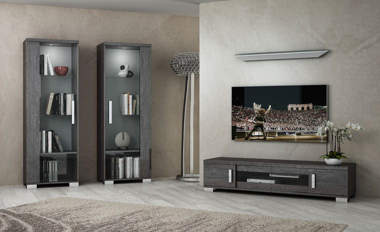 Sarah Grey Birch Italian Large TV Unit