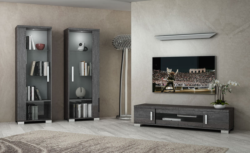 Sarah Grey Birch Italian Large TV Unit - ImagineX Furniture & Interiors