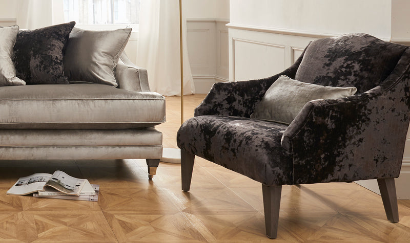 Belvedere Fabric Accent Chair with 1 Bolster - ImagineX Furniture & Interiors