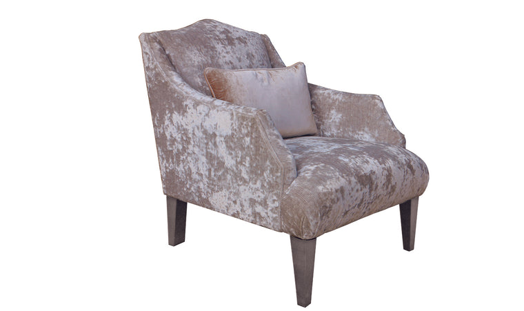 Belvedere Fabric Accent Chair with 1 Bolster - Champagne