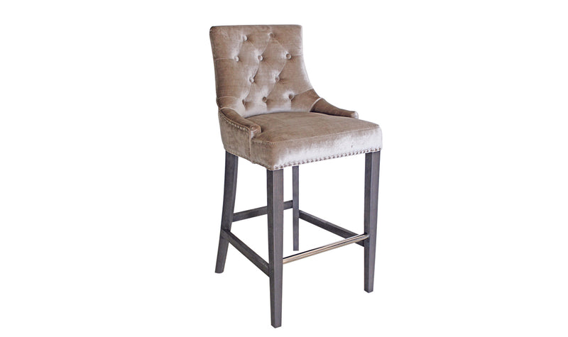 Belle Knockerback Bar Chair - Champagne (1/Box) - ImagineX Furniture & Interiors