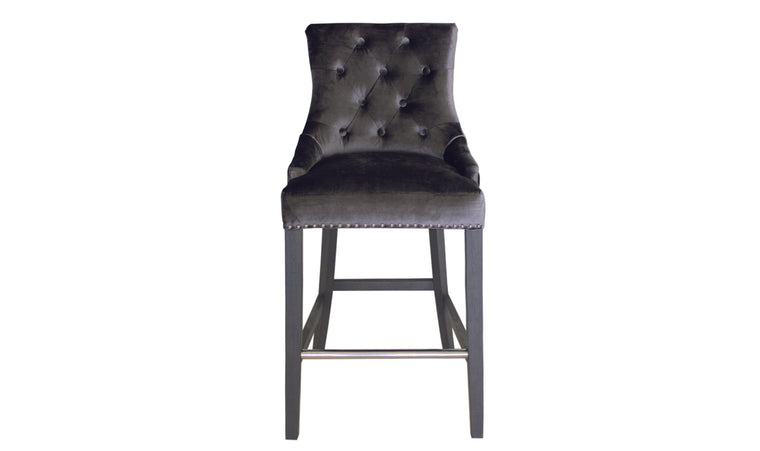 Belle Knockerback Bar Chair - Charcoal (1/Box)