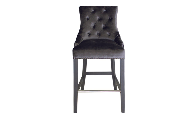 Belle Knockerback Bar Chair - Charcoal (1/Box) - ImagineX Furniture & Interiors
