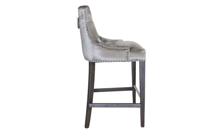 Belvedere Knockerback Bar Chair - Pewter (1/Box)