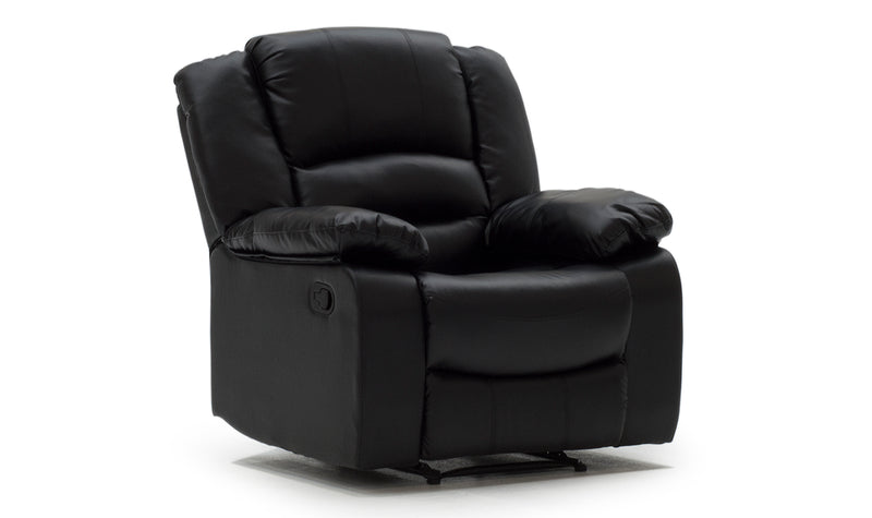 Barletto 1 Seater Recliner - Black - ImagineX Furniture & Interiors