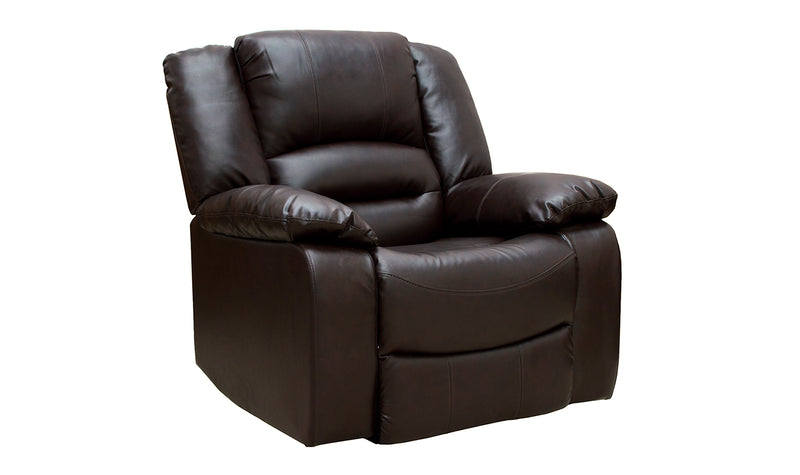 Barletto 1 Seater Recliner - Brown - ImagineX Furniture & Interiors