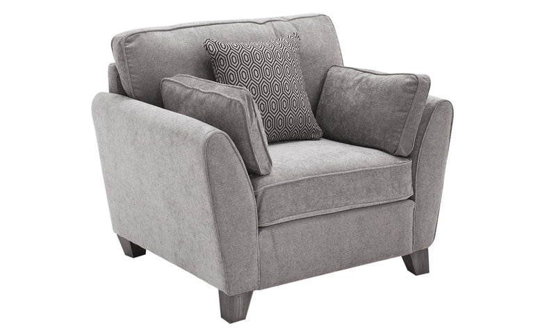 Cantrell 1 Seater – Silver - ImagineX Furniture & Interiors