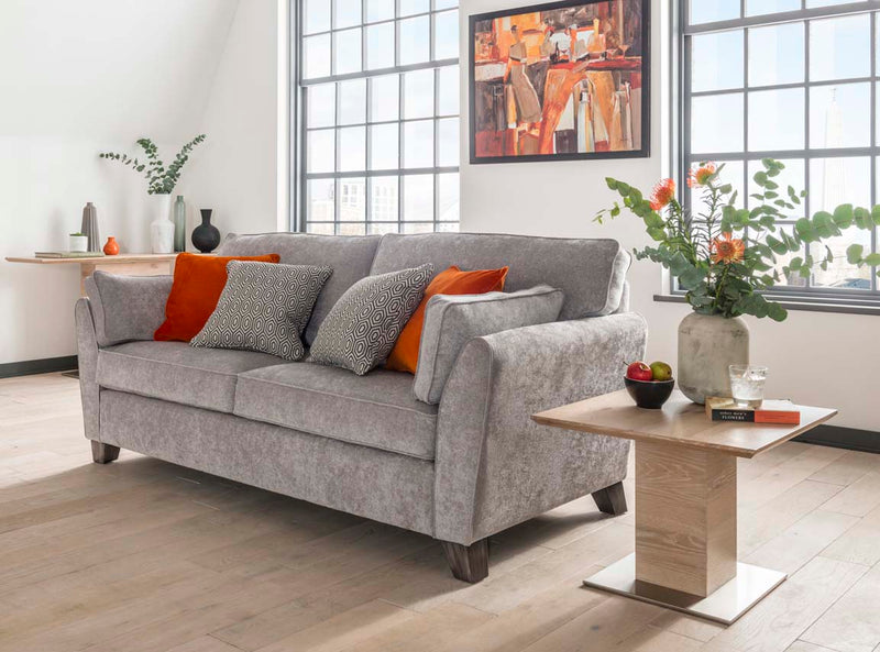 Cantrell 3 Seater Sofa - Silver - ImagineX Furniture & Interiors