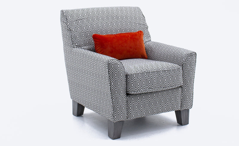 Cantrell Accent Chair - Graphite - ImagineX Furniture & Interiors