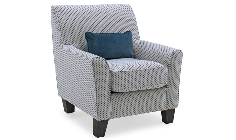 Cantrell Accent Chair- Teal - ImagineX Furniture & Interiors