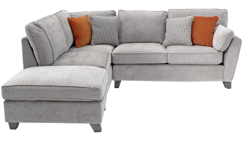 Cantrell Corner Sofa Set - Silver (LHF) (4 Scatter Cushions) - ImagineX Furniture & Interiors