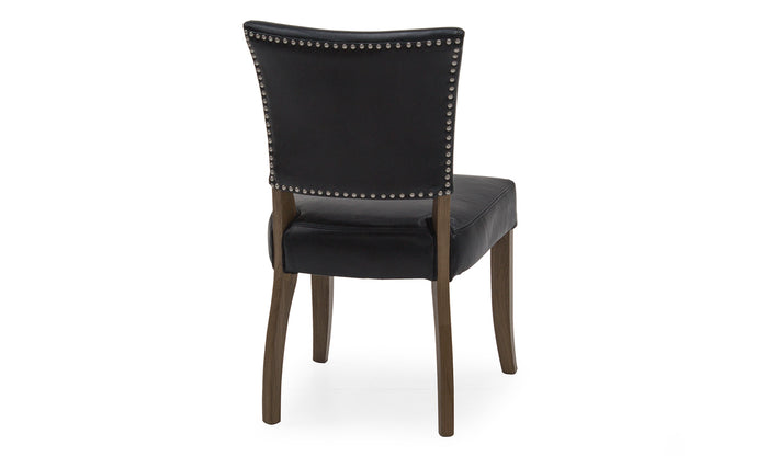 Duke Leather Dining Chair with Oak Legs in 2 Colours - ImagineX Furniture & Interiors