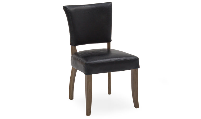 Duke Leather Dining Chair with Oak Legs in 2 Colours