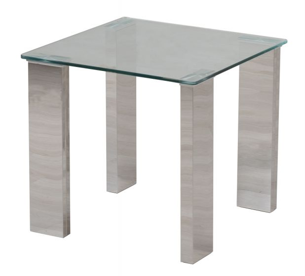 Torelli Dakota Clear Glass Side Table - ImagineX Furniture & Interiors