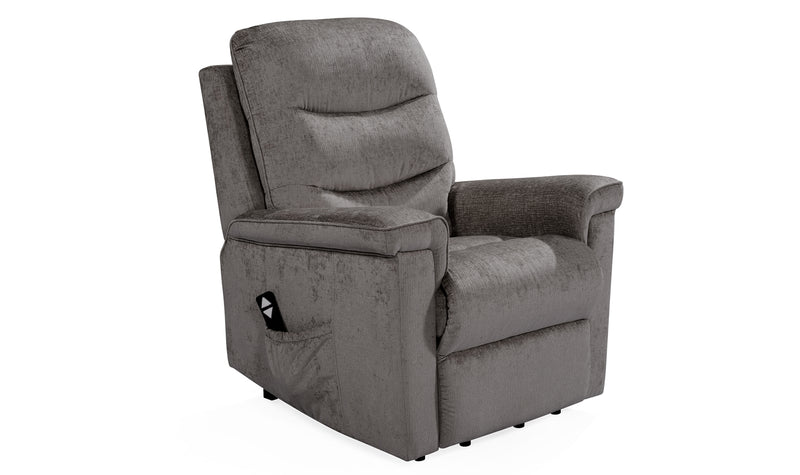Glencoe Electric Recliner - Charcoal - ImagineX Furniture & Interiors