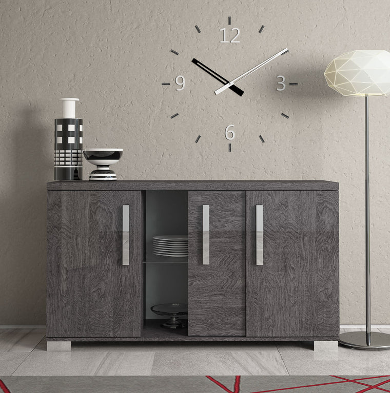 Sarah Grey Birch Italian 3 Door Sideboard