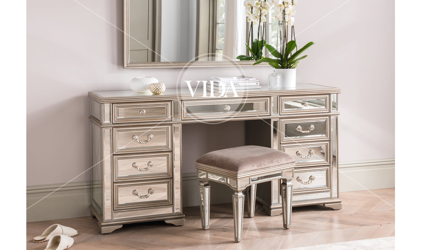 Jessica Knee Hole Dressing Table Stool Only