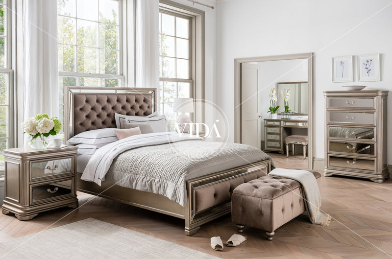 "Jessica 5'0"" King Size Bed Frame - ImagineX Furniture & Interiors"