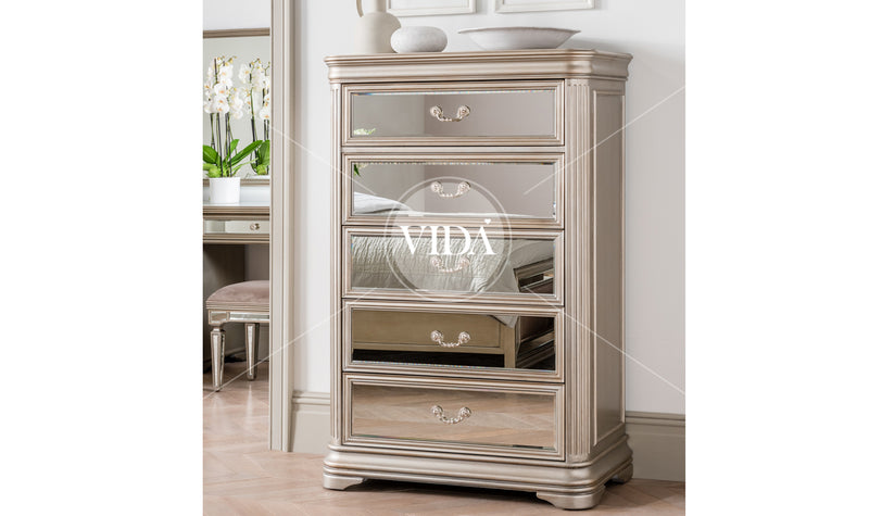 Jessica 5 Drawer Tall Chest - ImagineX Furniture & Interiors