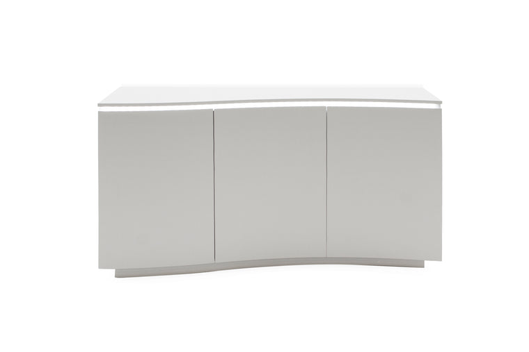 Lazzaro Sideboard - Light Grey Matt with LED
