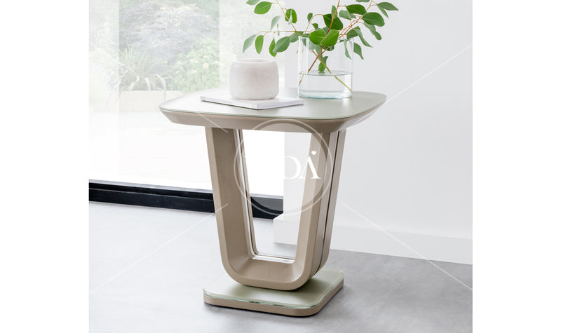 Lazzaro Matt 50cm Lamp Table - 3 Colours Available - ImagineX Furniture & Interiors