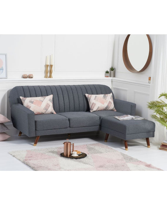 Leslie Grey Linen Sofa Bed