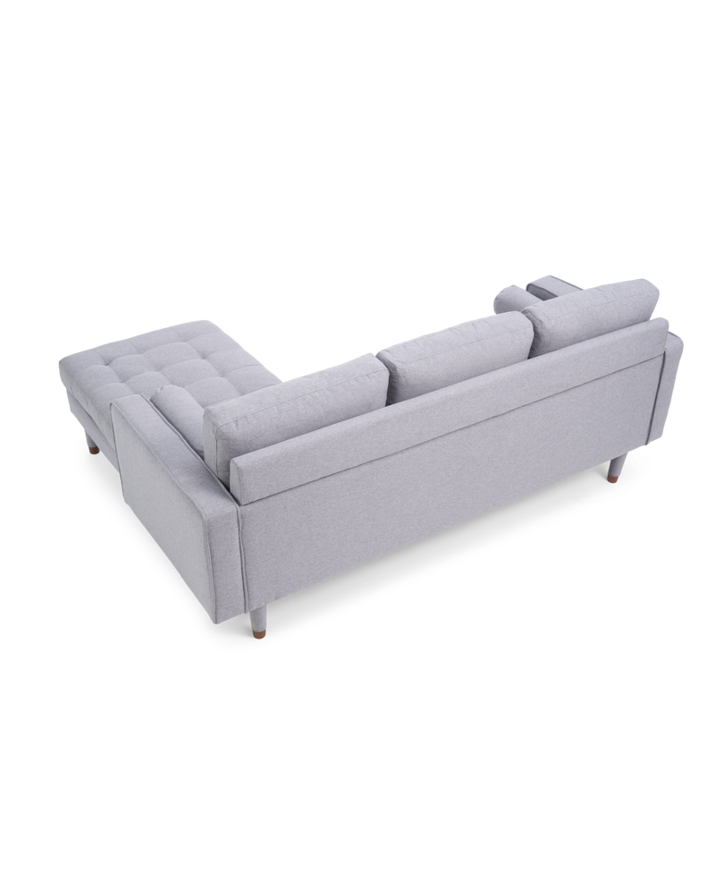 Liam Grey Linen 3 Seater Reversible Chaise Sofa - ImagineX Furniture & Interiors