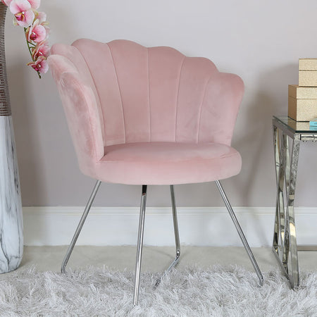 Areo Light Pink Shell Back Dining Chair - PRE ORDER FOR APRIL 2021 DELIVERY